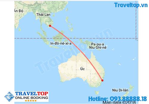 Thời bay từ Việt Nam sang Úc