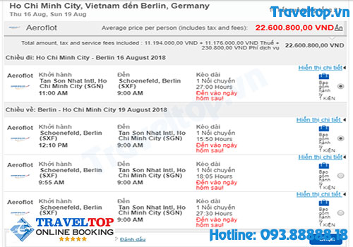 vé máy bay đi Đức