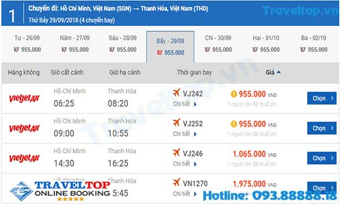 vé máy bay đi Thanh Hóa