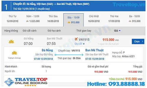 vé máy bay từ Đà Nẵng đi Buôn Mê Thuột