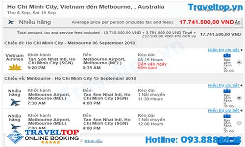 vé máy bay TPHCM đi Melbourne