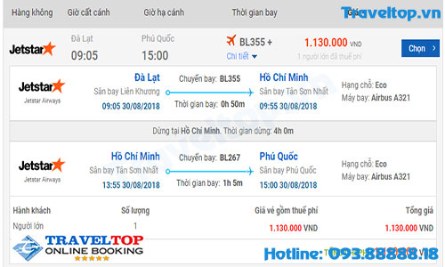 vé máy bay từ Đà Lạt đi Phú Quốc