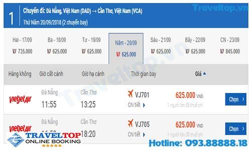 vé máy bay từ Đà Nẵng đi Cần Thơ