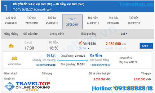 vé máy bay từ Đà Lạt đi Đà Nẵng