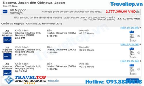 Vé máy bay từ Nagoya đi Okinawa