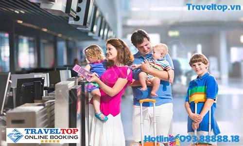 giảm giá vé cho trẻ em đi máy bay
