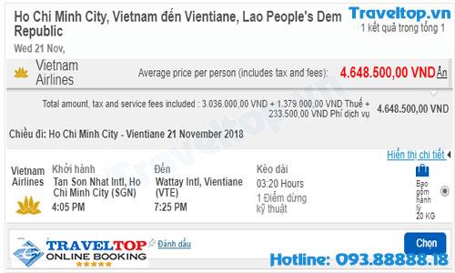 vé máy bay đi Viêng Chăng