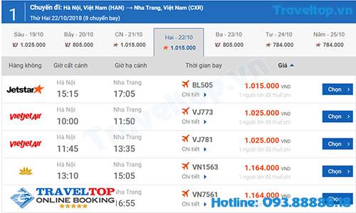 Vé máy bay đi từ Hà Nội đi Nha Trang